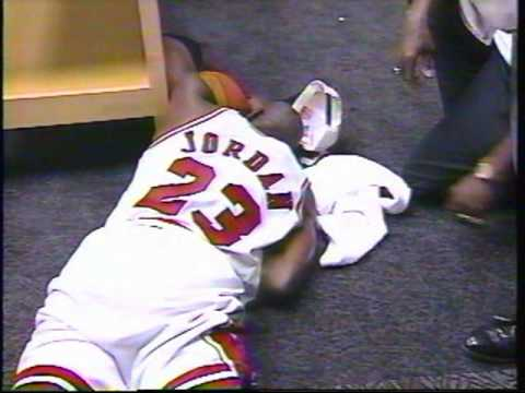Michael Jordan Crying Locker Room