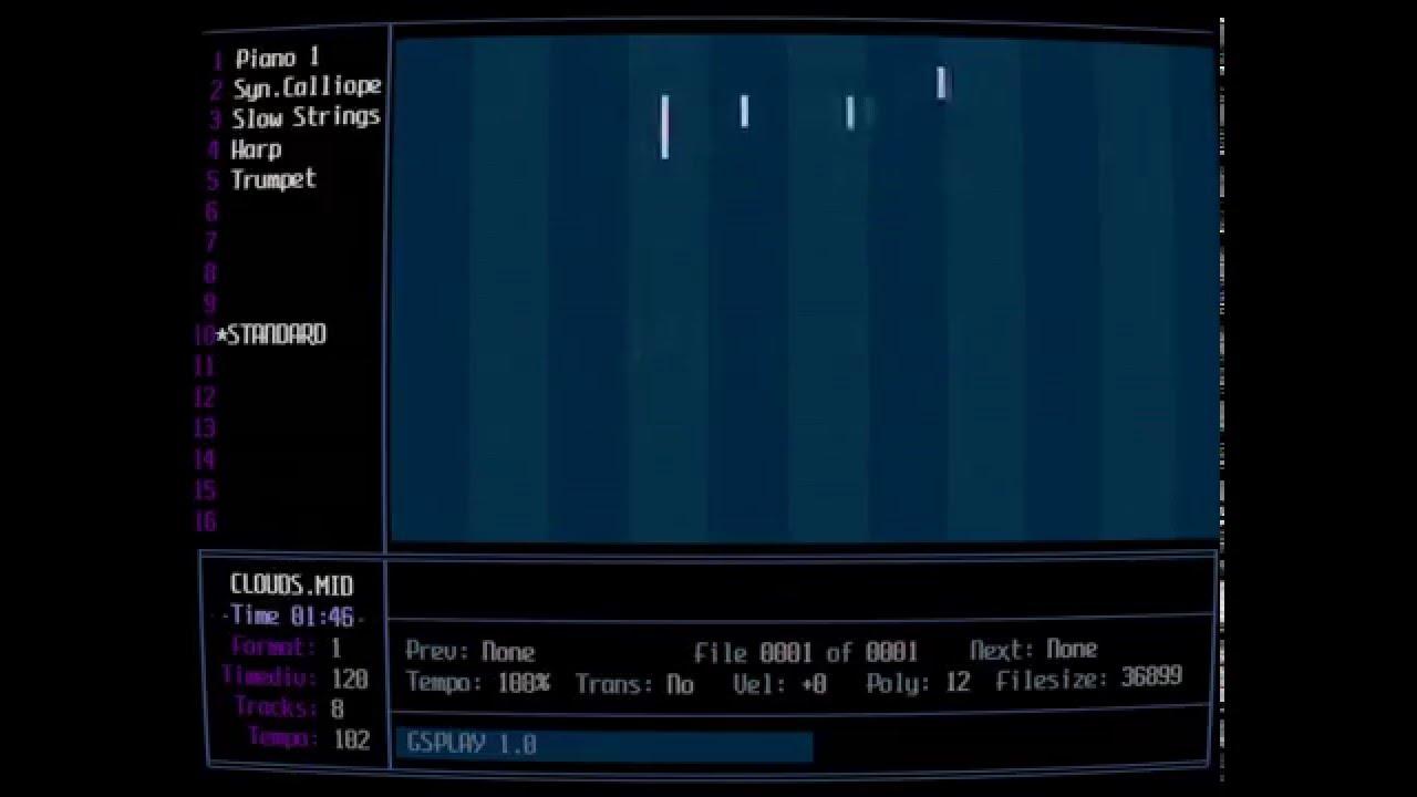Clouds mid played on Roland MT-32 (DOSBox SVN-Daum / MUNT)