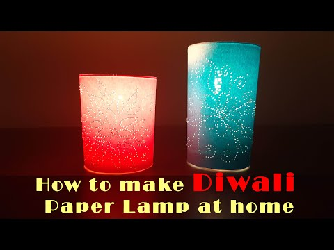 How to make Quick & Easy  Diwali lamp at home