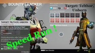 Destiny - Vanguard Bounty - Target: Telthor, Unborn - Speed Guide