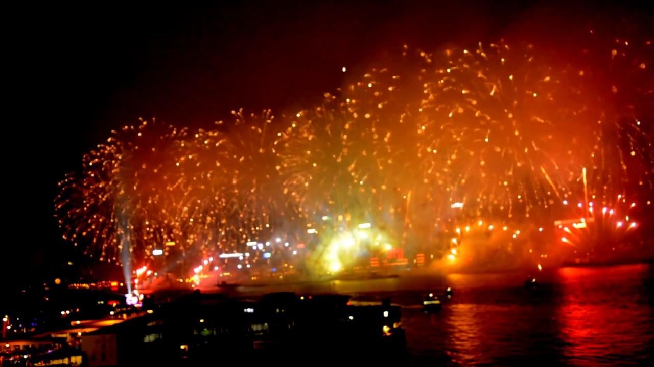 hong kong fireworks 2018 happy new year from hong kong