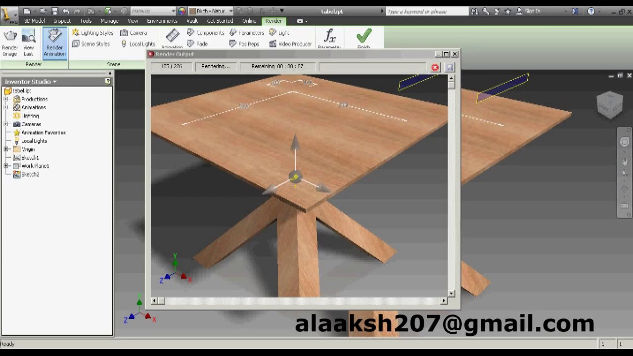 Autocad was used for rendering the remaining images - Render On Autodesk Inventor Professional 2013