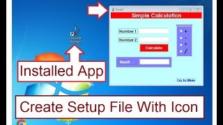 How to Create Setup(.exe) File in c# windows Form Application with Icon Step By Step.