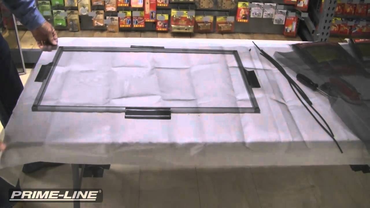 how to build a square cut screen or storm window kit youtube