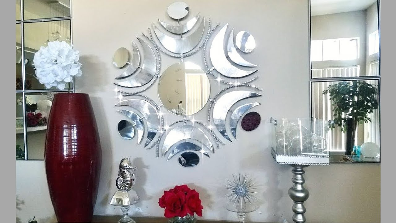 Diy Large Wall Mirror Design| Simple Unique and Inexpensive Wall Decorating Idea & Diy Large Wall Mirror Design| Simple Unique and Inexpensive Wall ...