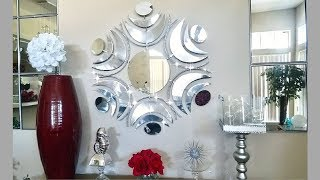 Diy Large Wall Mirror Design| Simple, Unique and Inexpensive Wall Decorating Idea