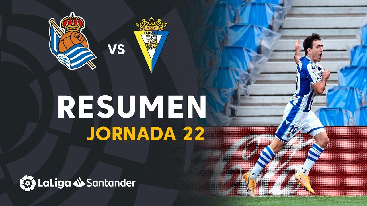 Resumen de Real Sociedad vs Cádiz CF (4-1)