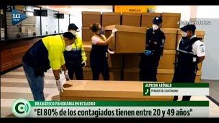 En Ecuador incineran a los familiares muertos en las calles, contó un periodista