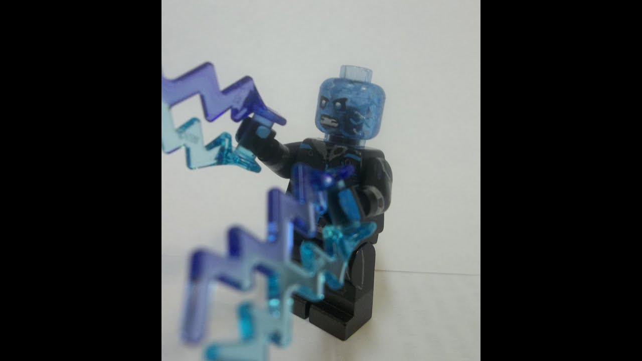 Lego the amazing spider man 2 custom minifigure electro version 2 youtube - Lego the amazing spider man 3 ...