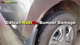 Datsun RediGo Rear Bumper Damage Repair
