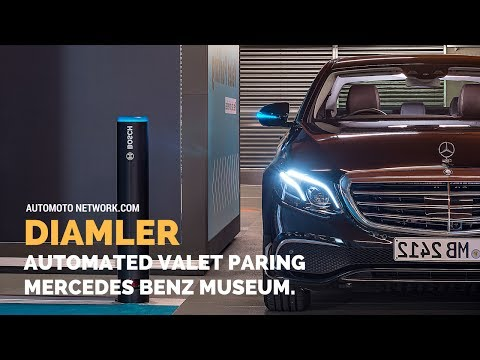 Bosch and Daimler Demonstrate Driverless Parking In Real-life Traffic | Automated Valet Parking.