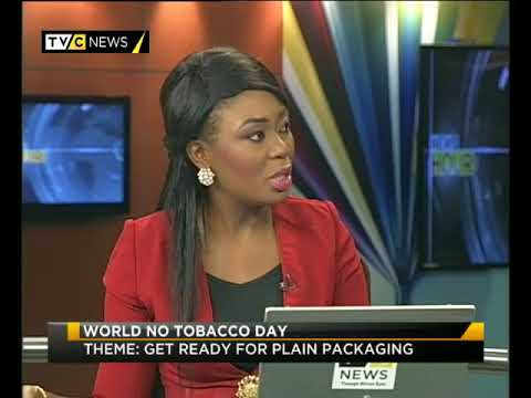 Ehi Iden speaking to TVC on World No Tobacco Day