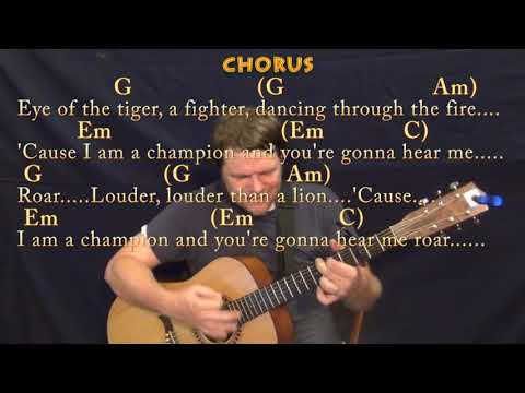 Roar Katy Perry Guitar Cover With Chordslyrics Capo 3rd High