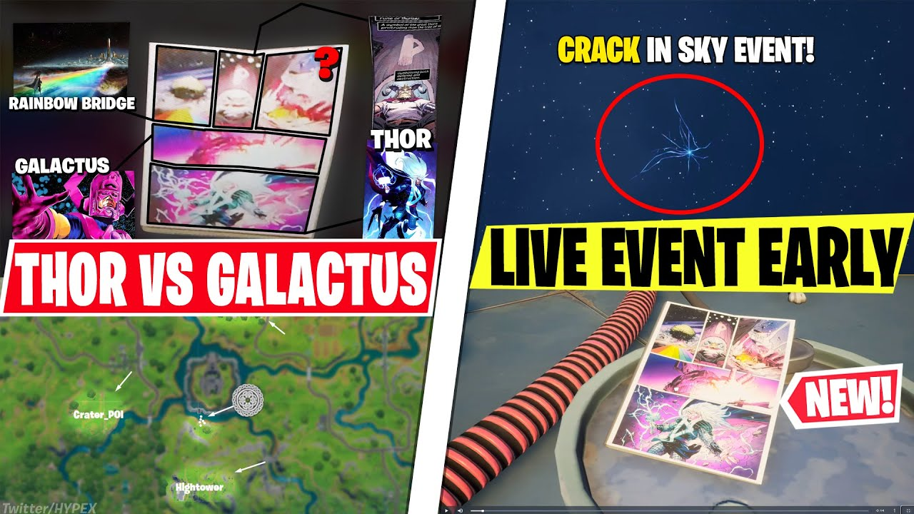 NEW THOR vs GALACTUS Live Event! *EARLY LOOK* Comic Book In Lobby, CRACK Returns, Leaked NEW POI!