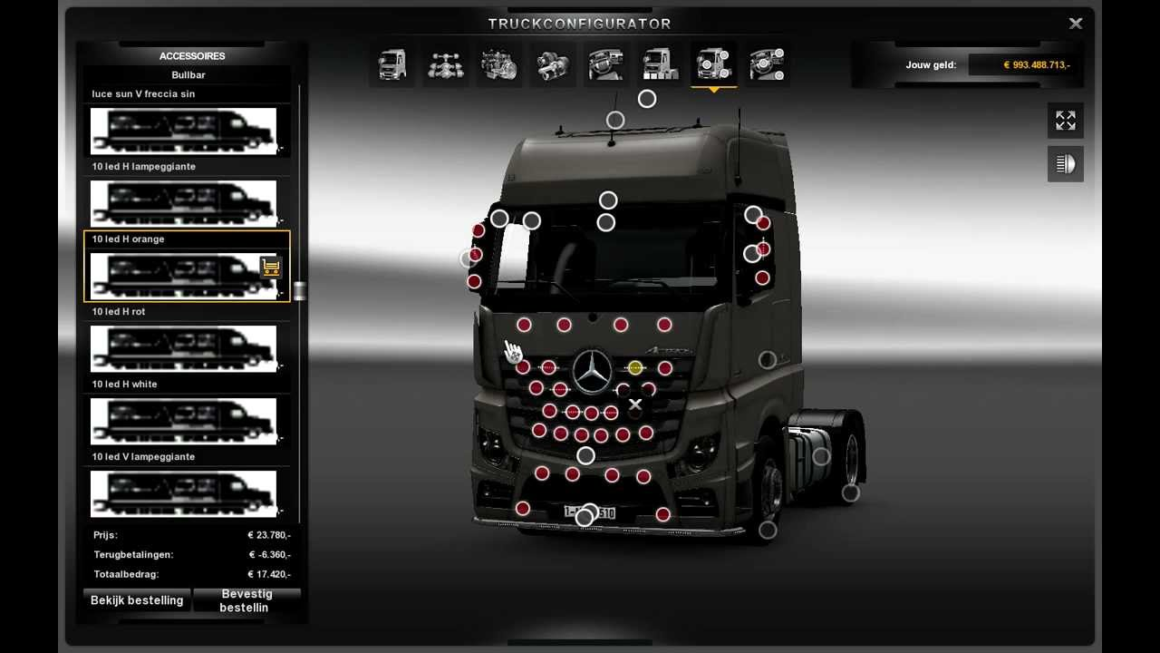 ets 2 mercedes benz actros mp4 tuning youtube. Black Bedroom Furniture Sets. Home Design Ideas