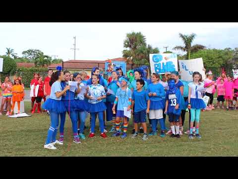Rosarian Academy Field Day 2017 - Blue Team Cheer