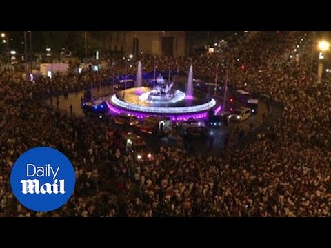 Real Madrid fans celebrate Champions League victory in Madrid - Daily Mail