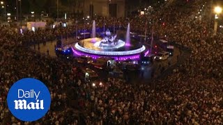 Real Madrid fans celebrate Champions League victory in Madrid