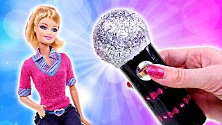 how to make a homemade barbie doll microphone   making diy barbie doll crafts with dctc