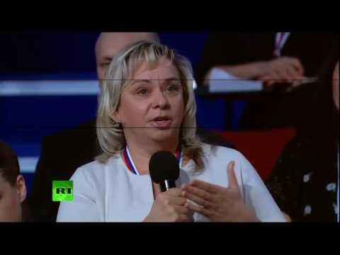 Журналистка из Ульяновска спросила у Путина про дороги