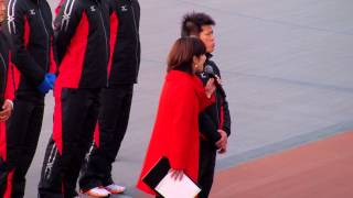 2014年12月30日、岸和田競輪場。進行役は木村雅子。