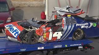 2012 Eric McClure hard crash @ Talladega (extended version)