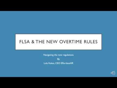 2016 FLSA & The New Overtime Rules - YouTube