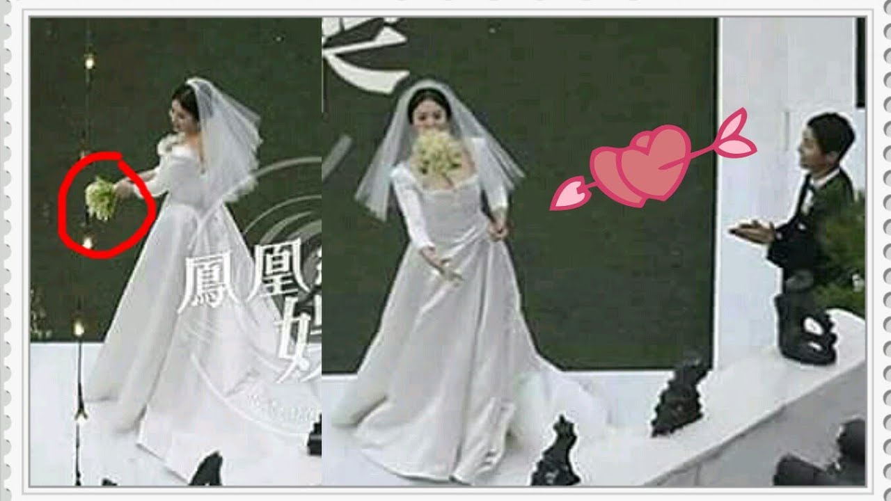 Full Wedding Ceremony Joongki Hy To See Song Hyekyo Throwing Flower Bouquet Songsong