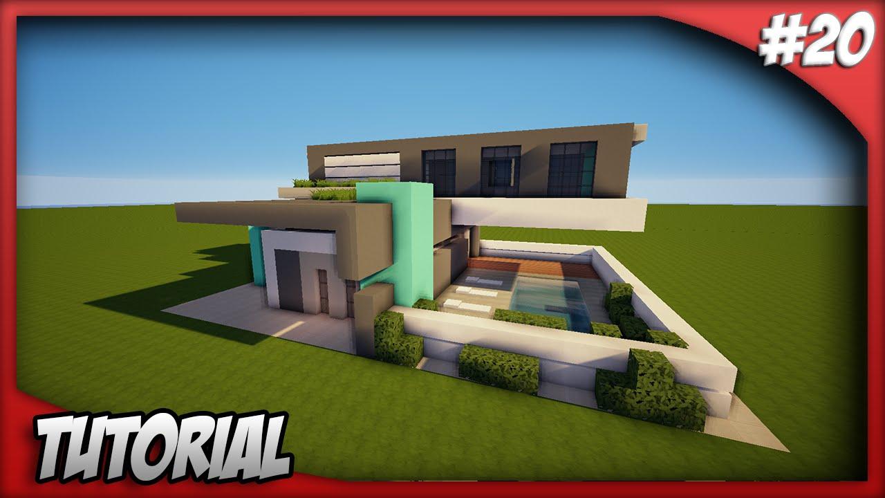 Minecraft como hacer una casa moderna 20 youtube for Como hacer una terraza techada