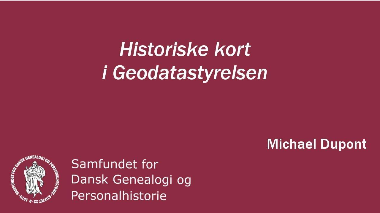 Historiske Kort I Geodatastyrelsen Youtube