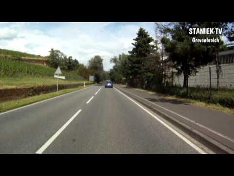 Autofahrt Bad Kreuznach nach Bingen auf den Rastplatz A 61