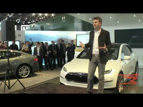 Tesla Motors at the North American International Auto Show in Detroit
