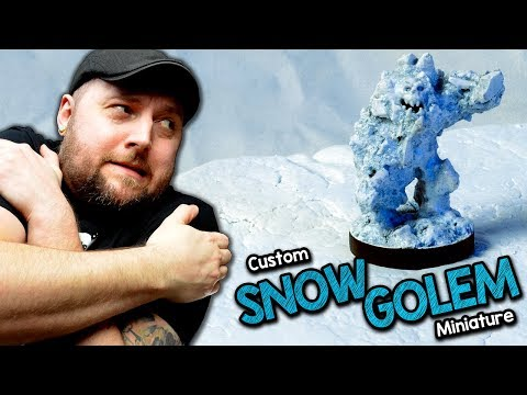 ❄️Build a Custom Snow Golem Miniature for D&D (Black Magic Craft Episode 115)