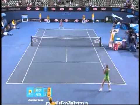 Andrea Petkovic vs Anne Keothavong 2011 AO Highlights