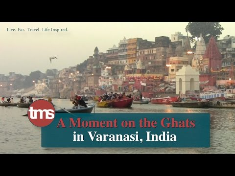 A Moment on the Ghats in Varanasi, India