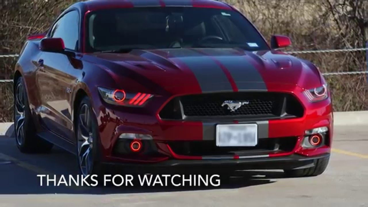 2015 Mustang Gt Oracle Halo Installation Crow Concepts 1 Youtube