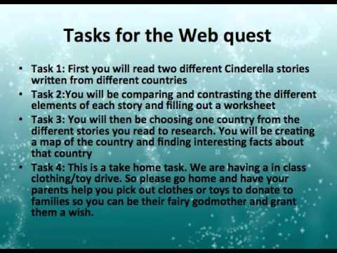 Cinderella webquest