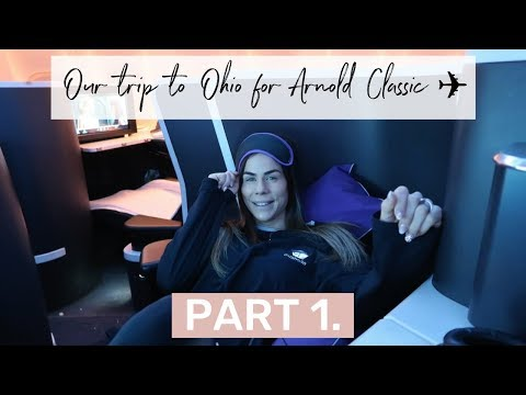 We head to OHIO, USA- Trip, Shopping & NHL | Arnold Classic Part 1 VLOG | Sophie Guidolin