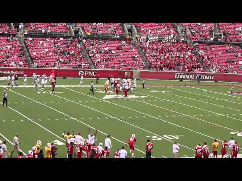 Louisville Football Scrimmage 2012 - Deion Branch visits