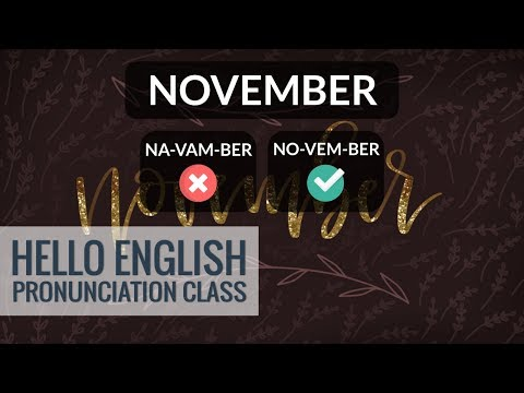 How To Say Names Of Months In English? Part 2 | Hello English Pronunciation Class 35