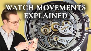 Watch Movements Explained - Mechanical vs. Automatic vs. Quartz Watches