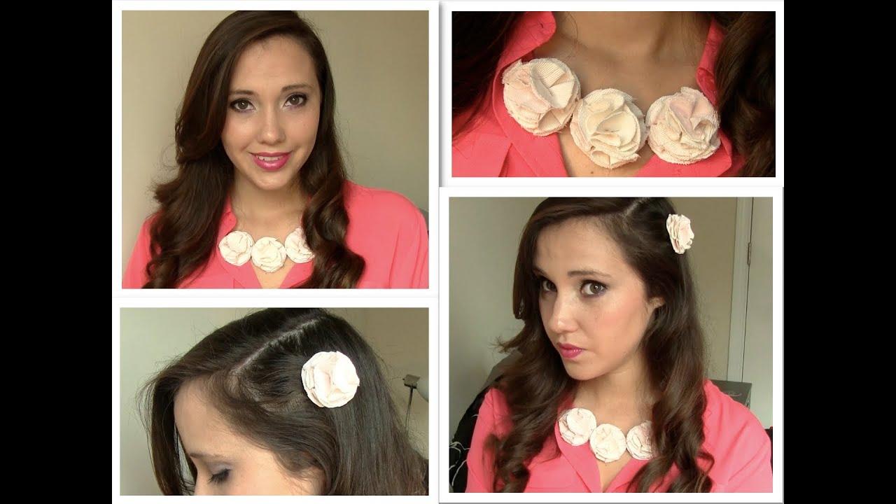 Diy como hacer un hermoso collar de flores youtube - Como hacer un estor enrollable paso a paso ...
