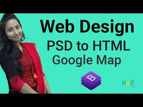 Bootstrap basic tutorial 2018 (Bangla) Part 14 - Psd to Html(Google Map)