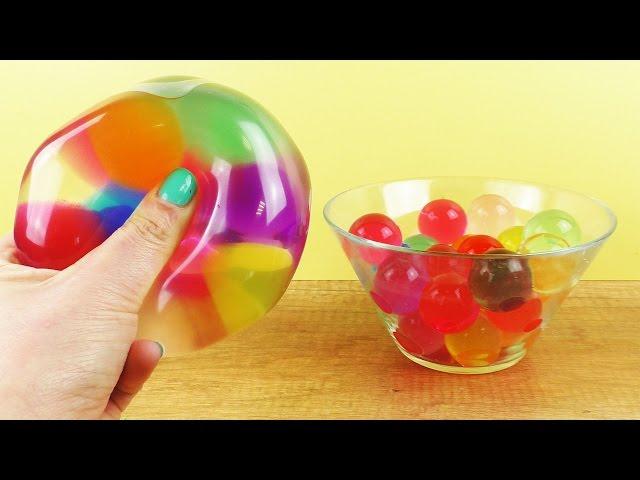 XXL ANTISTRESSBALL mit bunten Wasserperlen | Extrem Orbeez Ballon Experiment
