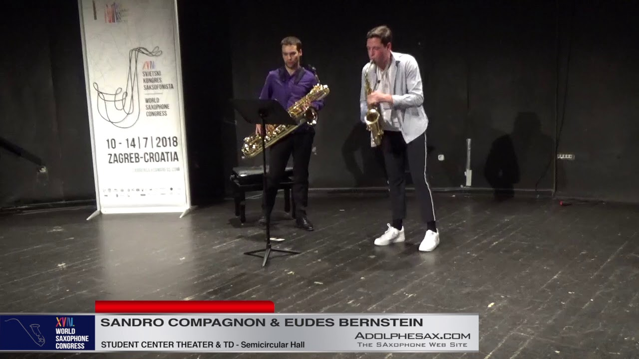 Onomatopée by Vincent David  Sandro Compagnon & Eudes Bernstein   XVIII World Sax Congress 2018 #ad
