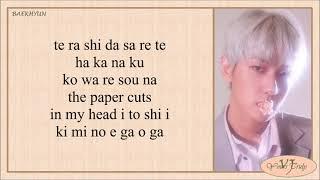 EXO CBX (엑소) - Paper Cuts (Easy Lyrics)