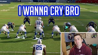 I played a Colts fan 2 hours after Andrew Luck Retired!