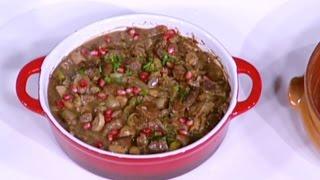 طاجن اللحم والفطر بدبس الرمان - ديما حجاوي