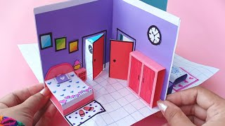 How to make Beautiful Paper House || DIY Miniature Paper House