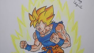 Drawing Goku SSJ Planet Namek